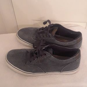 Mens Van's off the wall denim washed shoes sz 10.5